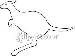 kangaroo outline drawing at getdrawings com free for personal use
