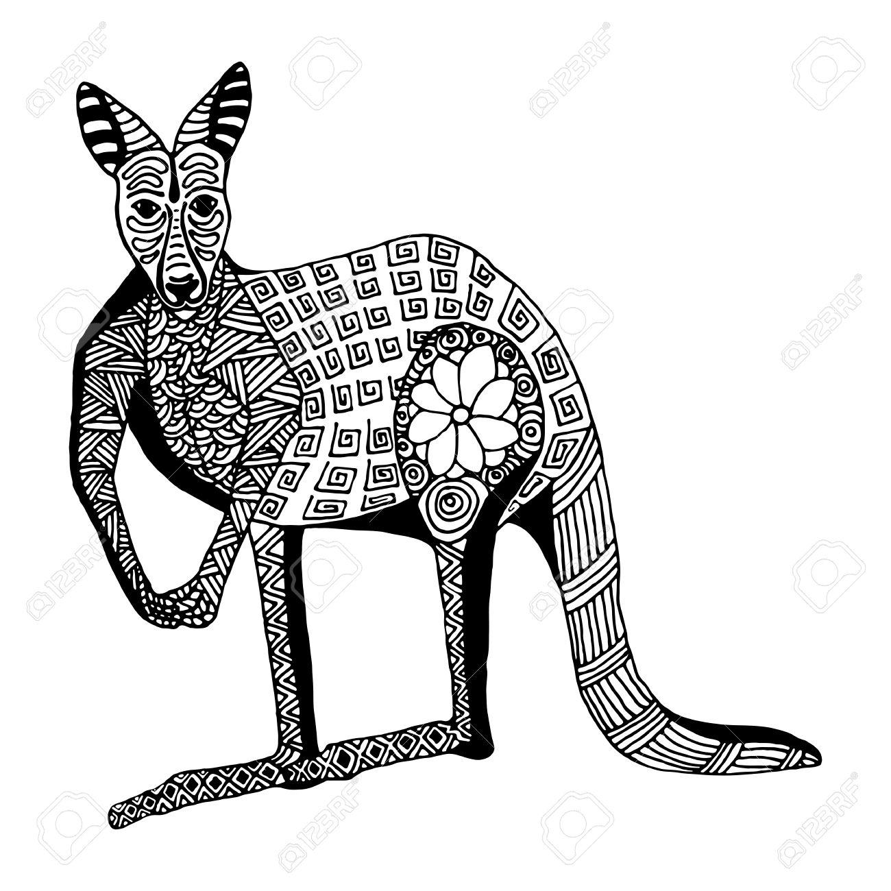1300x1300 Drawn Kangaroo Doodle