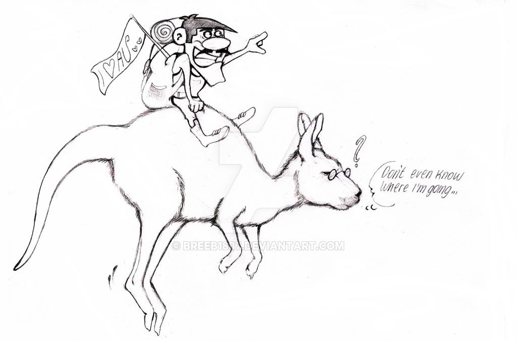 1024x677 Joe Dalton Riding A Kangaroo