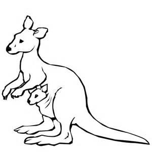 300x300 Kangaroo Coloring Page Sketch Template Animals