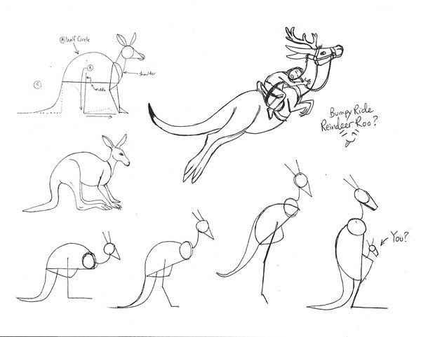 600x481 Draw a kangaroo 3 by diana