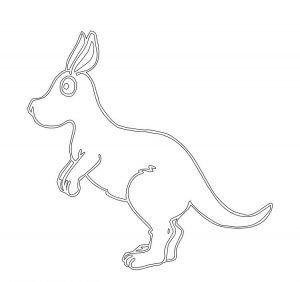300x282 12 Best Kangaroo Coloring Pages Images On Kangaroo