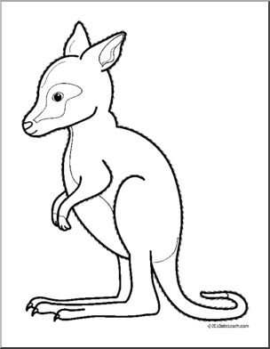 304x392 Drawn Kangaroo Clip Art