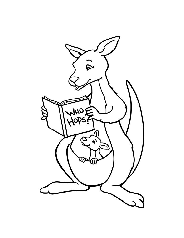 773x1000 Free Printable Kangaroo Coloring Pages For Kids