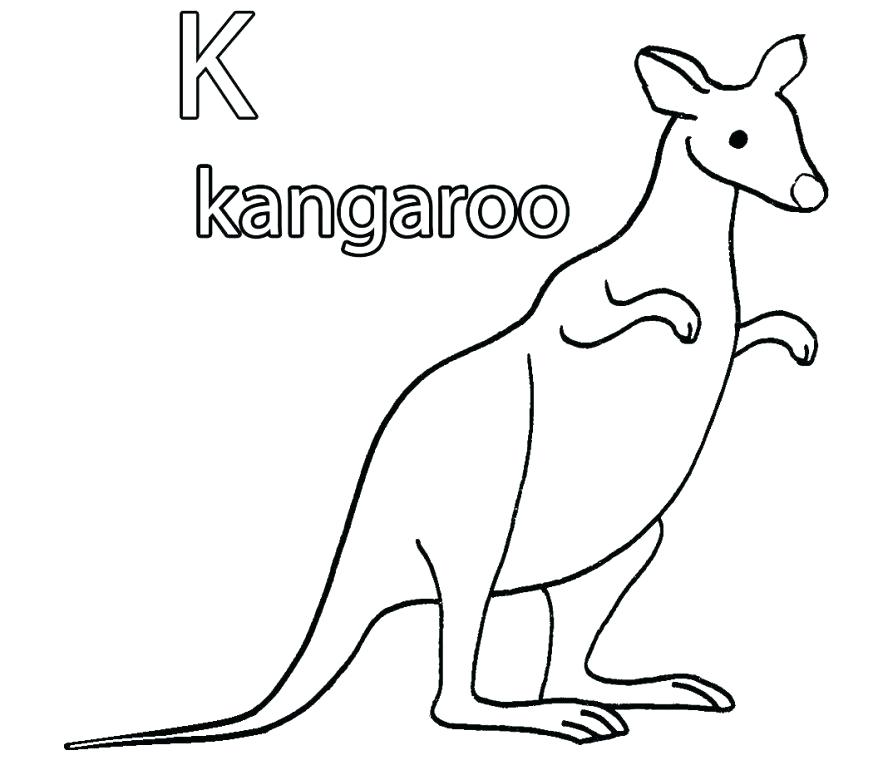 878x775 Kangaroo Coloring Pages Kangaroo Carrying A Pouch Coloring Page
