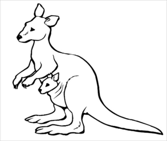 670x566 Awesome And Beautiful Kangaroo Outline 25 Amazing Tattoo Designs
