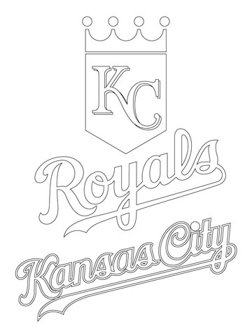 360x480 Kansas City Royals Logo Coloring Page Free Printable Coloring Pages
