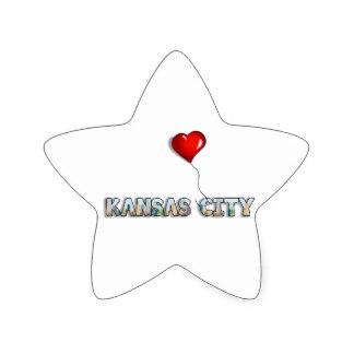 324x324 Love Kansas City Stickers Zazzle
