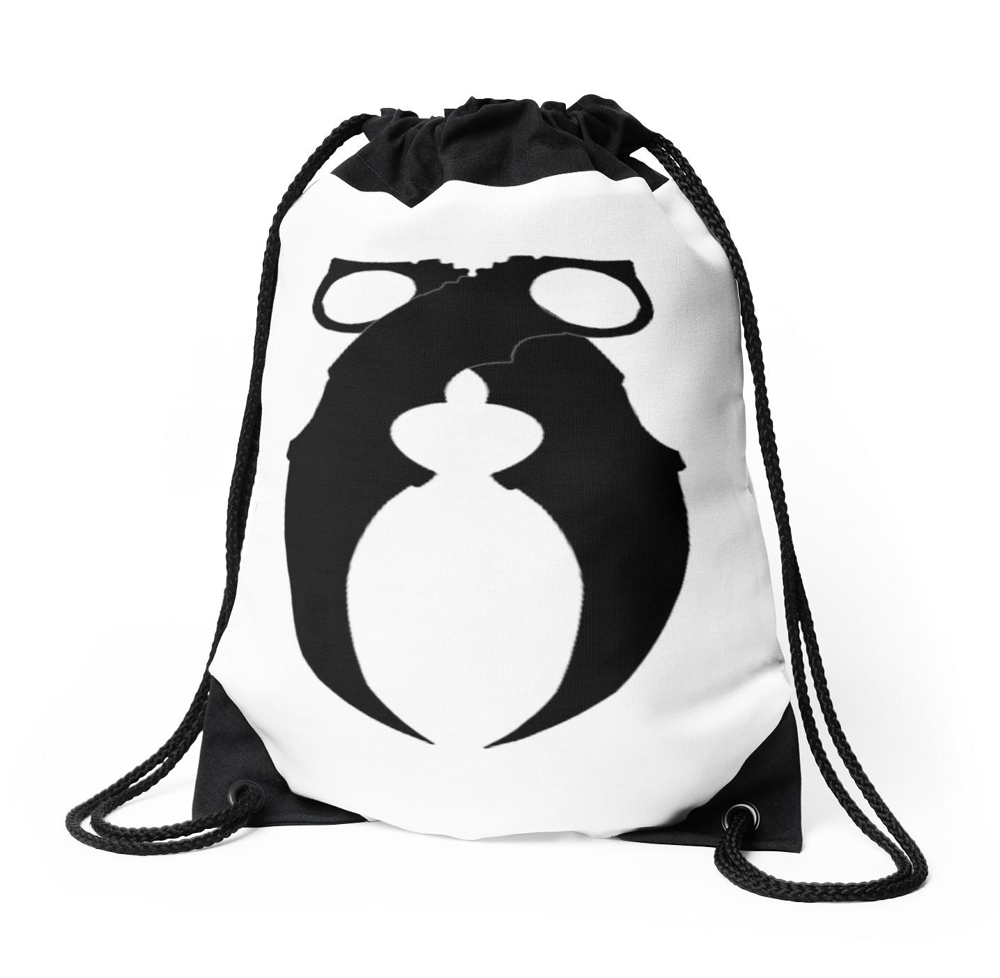 1435x1404 Black Karambit Drawstring Bags By Stiix Redbubble