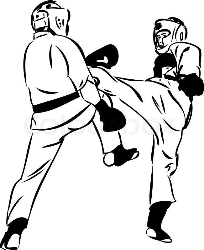 651x800 Karate Kyokushinkai Sketch Martial Arts And Combative Sports