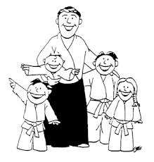219x230 Martial Arts And Karate Drawings Kids Figures Best Children