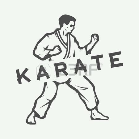 450x450 Vintage Karate Or Martial Arts Logo, Emblem, Badge, Label