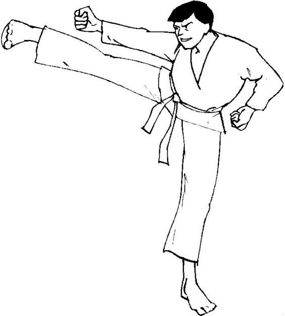 566x626 Coloring Pages Amazing Karate 10