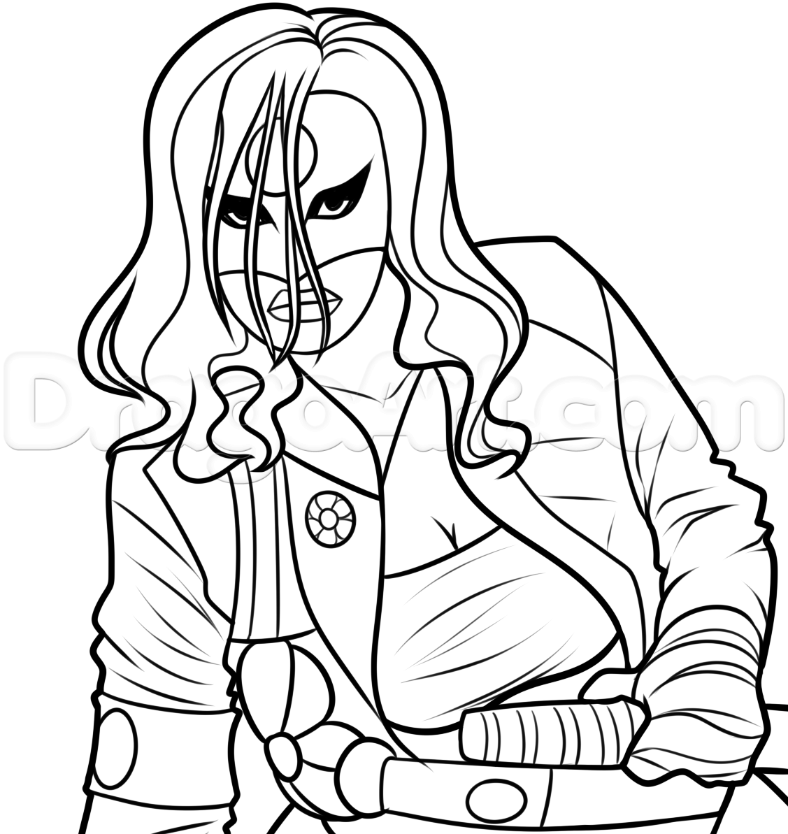 1127x1193 Drawing Katana From Suicide Squad, Step By Step, Dc Comics, Comics