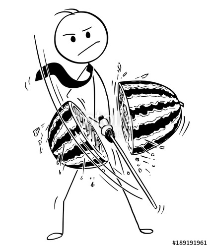 423x500 Cartoon Stick Man Drawing Conceptual Illustration Of Samurai