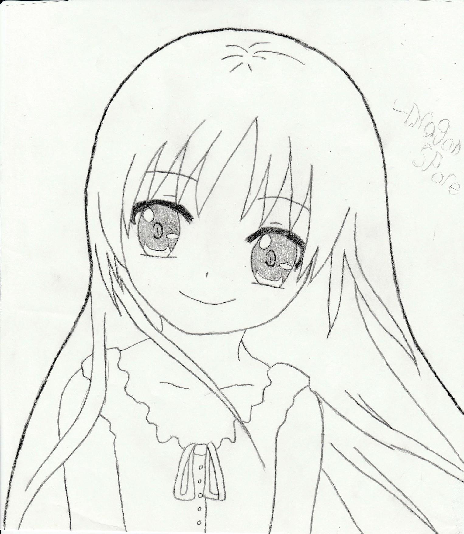 1526x1757 Cute Anime Girl Drawing Best Anime Girl Drawings Ideas
