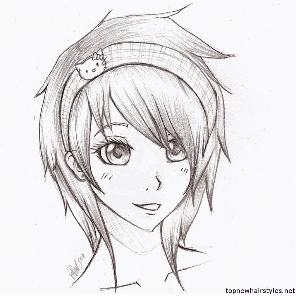 1024x1024 Kawaii Anime Drawings Easy Anime Girls To Draw Anime Emo Girl