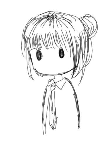 366x482 Anime, Art, Cute, Girl, Kawaii, Manga, Sketch Dessin