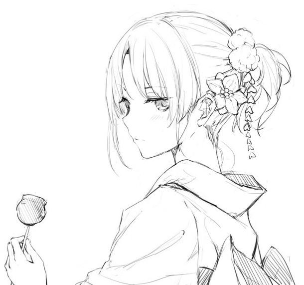 610x571 Manga Girl Yukata