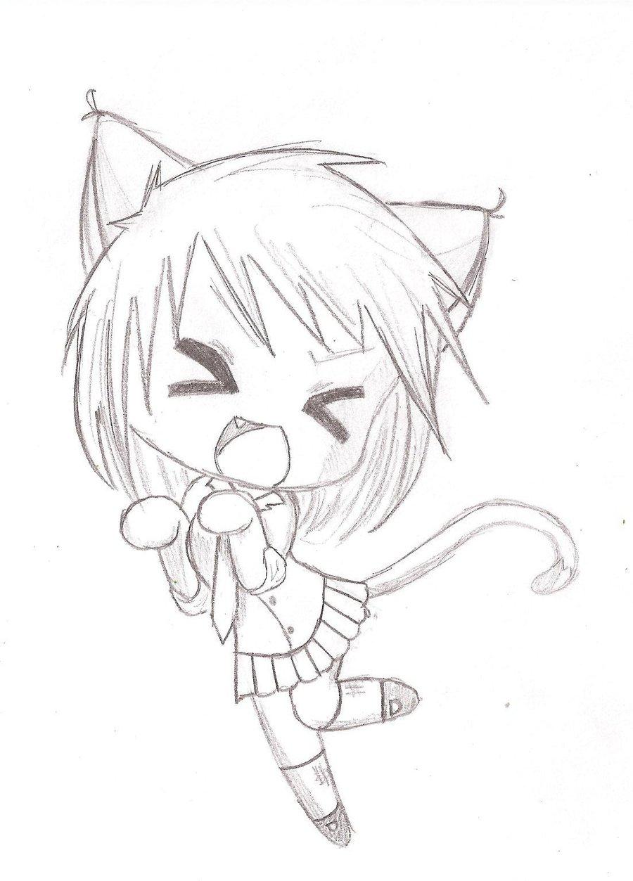 900x1253 Kawaii Anime Drawings Kawaii Neko Chibihiroki Yinyang