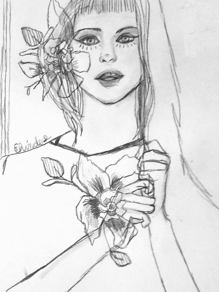 770x1027 Saatchi Art Kawaii Drawing By Elizabeth Hinders