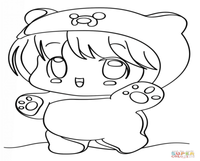 400x322 Kawaii Cat Coloring Pages Meow Colouring Drawings For Adults Anti