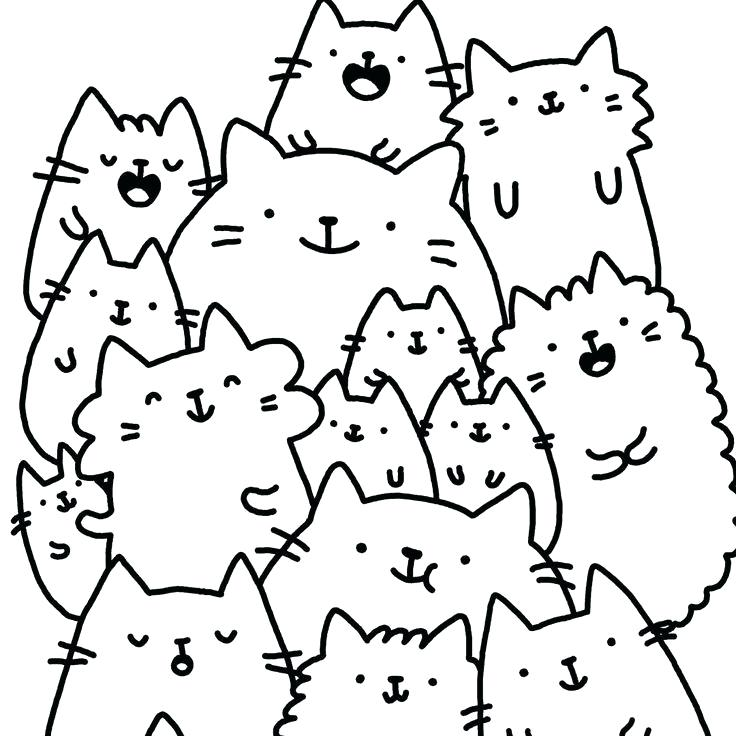 kawaii cats that are easy to draw