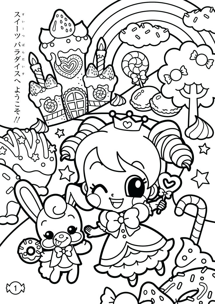 736x1040 Kawaii Coloring Pages Plus Elephant Colori On Drawing Cute Food