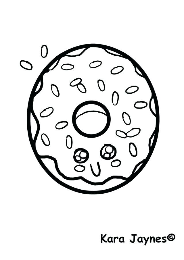 640x905 Astounding Various Kawaii Food Coloring Pages Print Donut Page