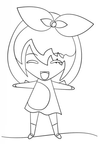 333x480 Kawaii Girl Coloring Page Free Printable Coloring Pages
