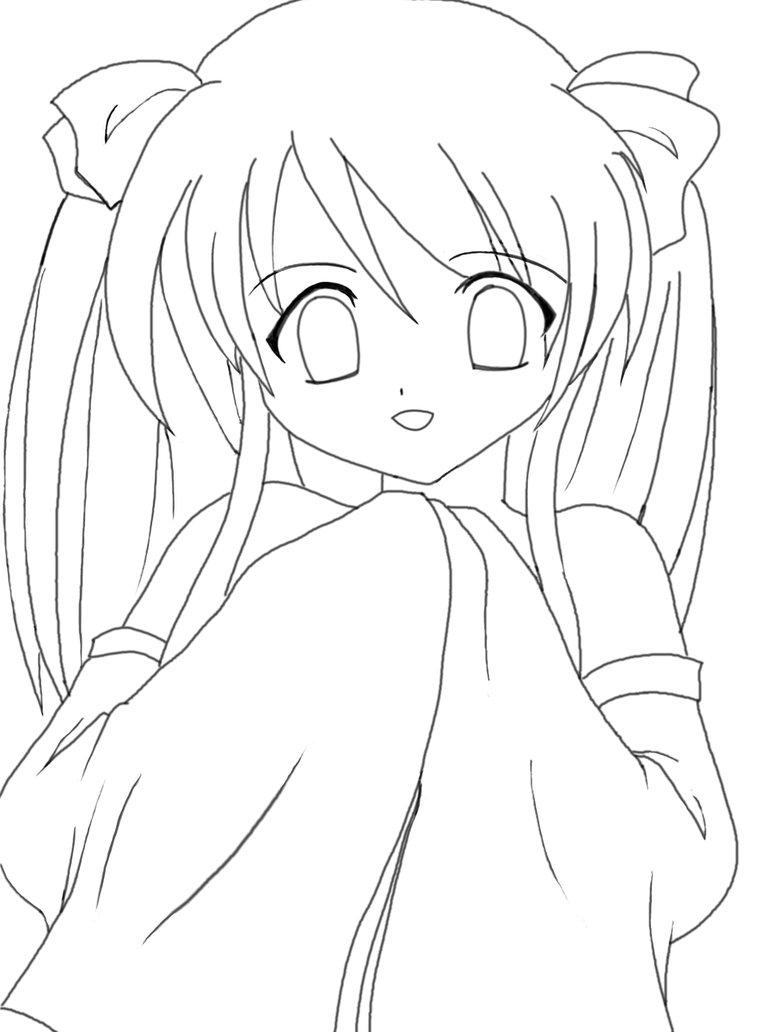 774x1032 Anime Kawaii Girl Lineart By Riikochan Artworks