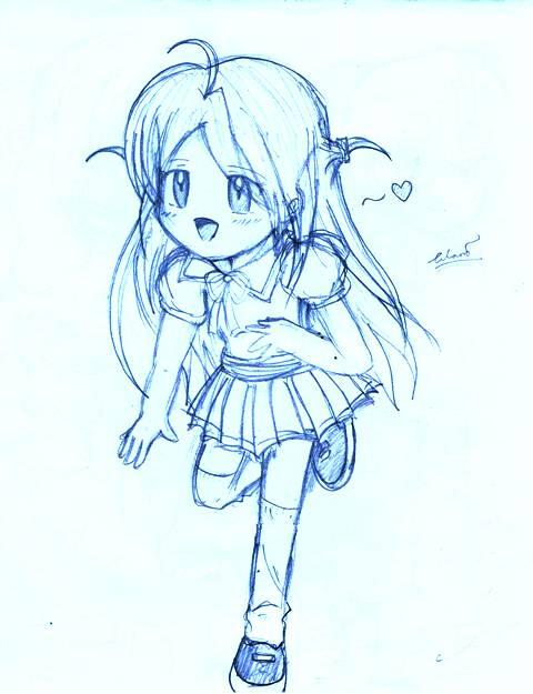 480x625 Kawaii Girl Running By Lawl24