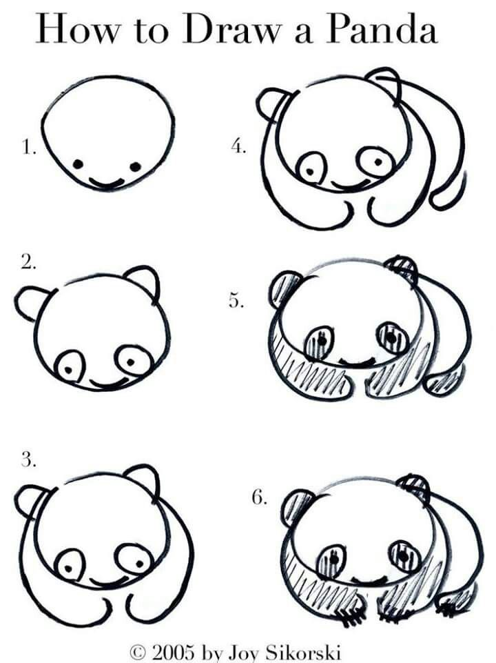 Kawaii Panda Drawing