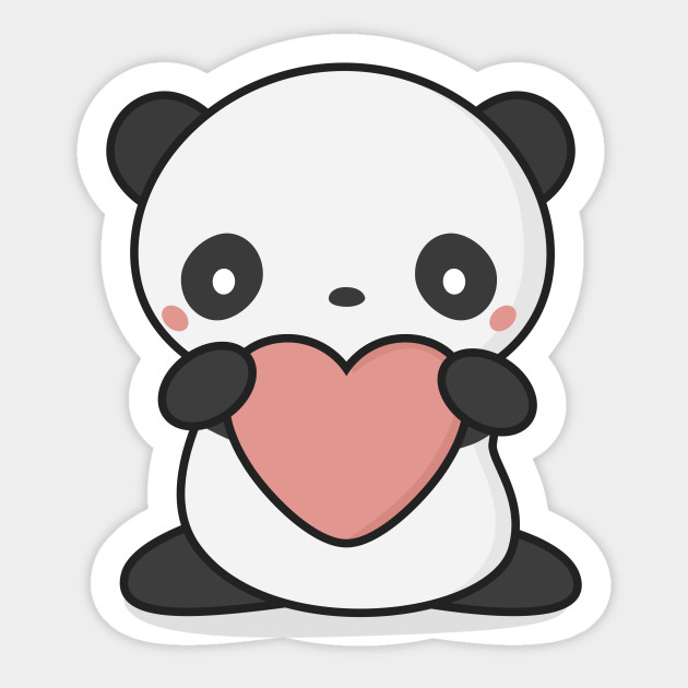 630x630 Kawaii Cute Panda With Heart
