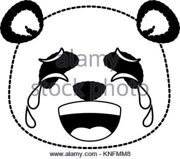 361x320 Panda Sad Emoji. Chinese Bear Sadness Emotion Isolated Stock