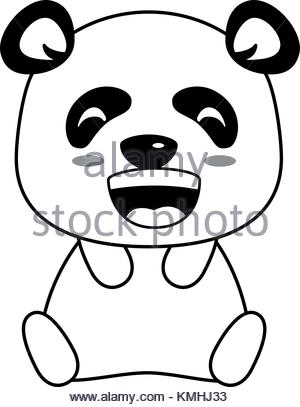 300x407 Cute Panda Emoji Kawaii Vector Illustration Design Stock Vector