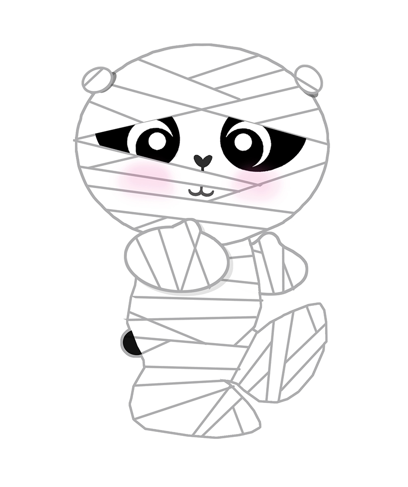 822x981 Lil'Panda As A Mummy. A Super Cute Halloween Character. Www