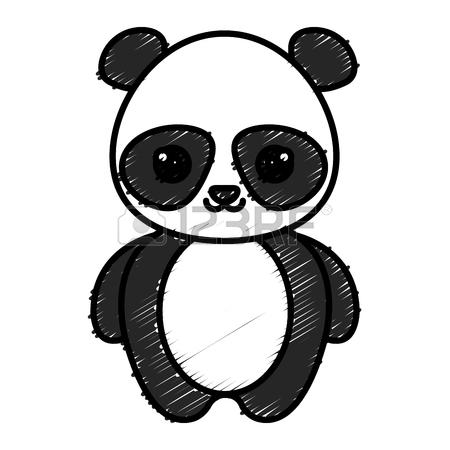 450x450 Cute And Tender Bear Panda Kawaii Style Vector Illustration Design