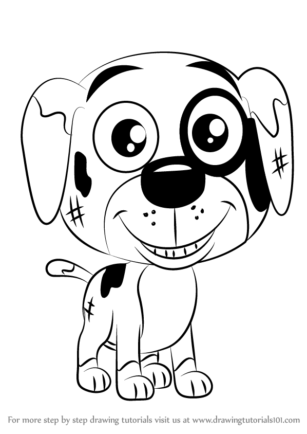 598x844 Learn How To Draw Greasy From Pound Puppies (Pound Puppies) Step