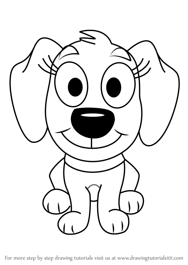 600x846 Learn How To Draw Piper From Pound Puppies (Pound Puppies) Step By