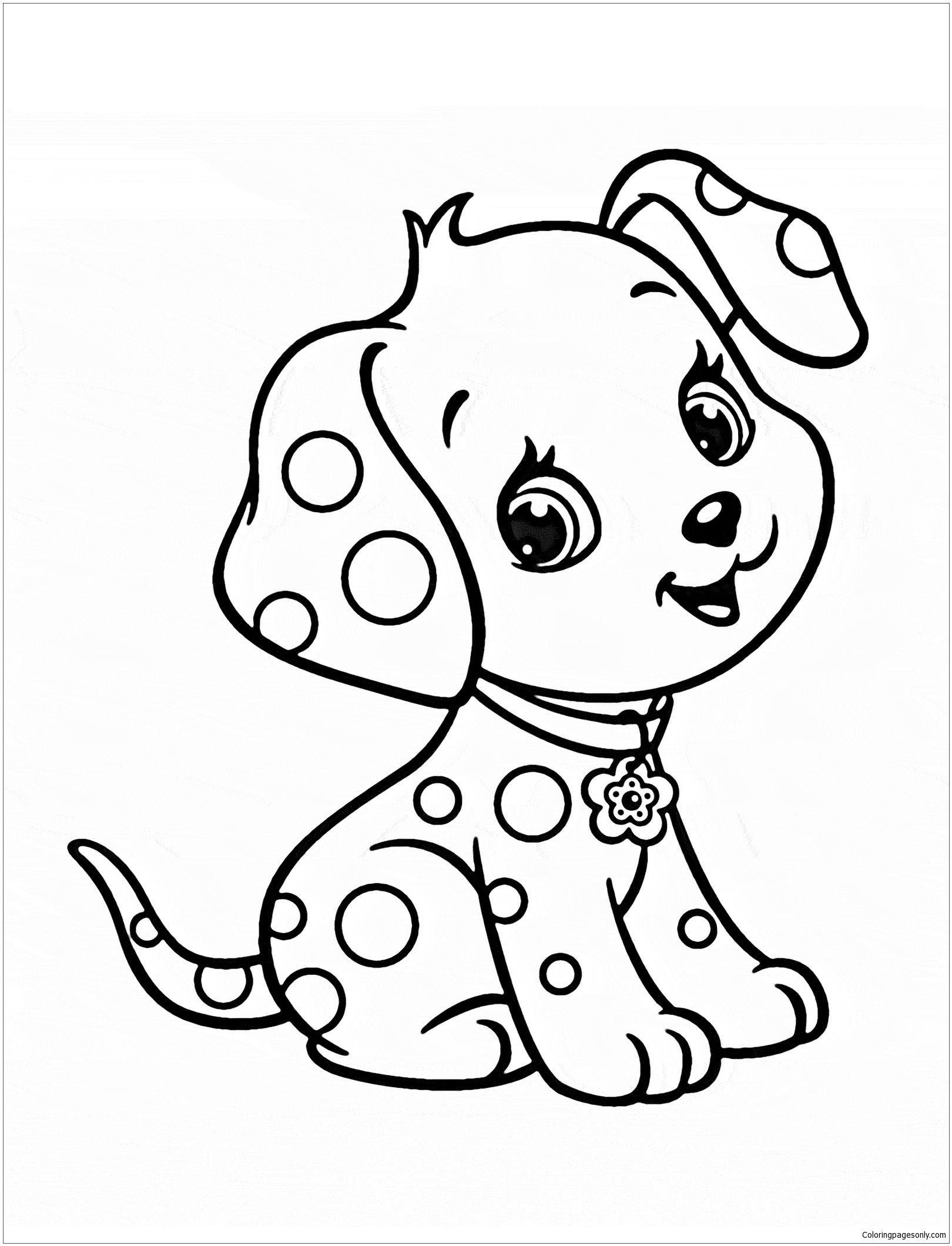 1620x2119 Cute Puppy 5 Coloring Page Puppy Coloring Pages