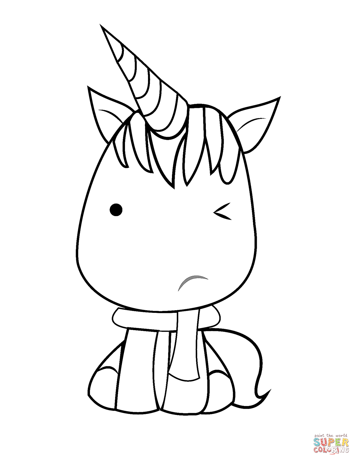 Kawaii Unicorn Drawing at GetDrawings | Free download