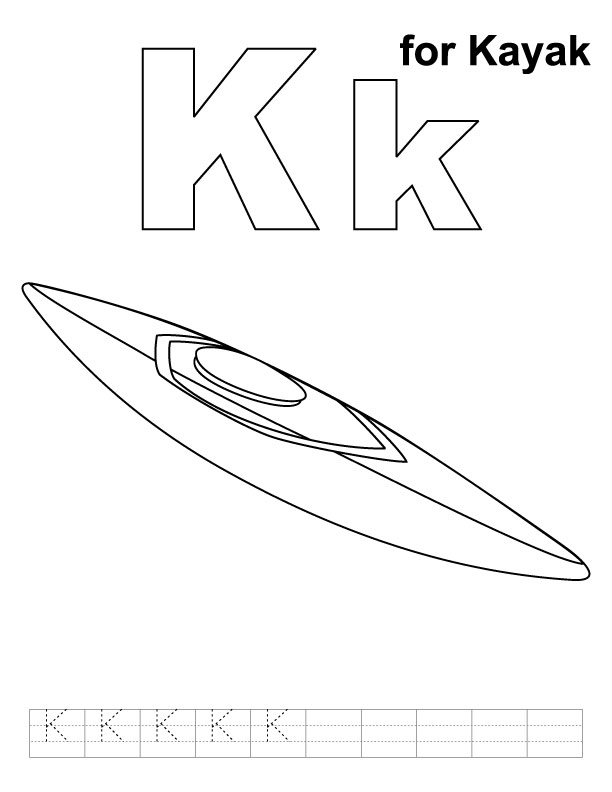 612x792 Kayak Coloring Pages For Adults Kayak Drawing