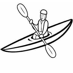 300x300 Kayak Coloring Pages For Adults Kayak Drawing