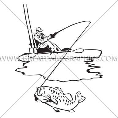 385x385 Kayak Fishing Production Ready Artwork For T Shirt Printing