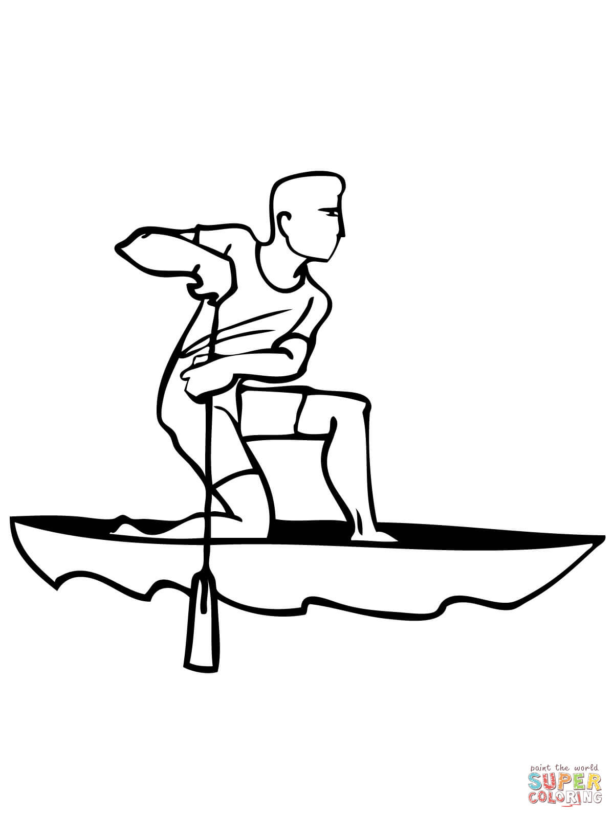 1200x1600 Kayak And Paddle Coloring Page Free Printable Coloring Pages