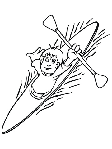 360x480 Boy Floating On Kayak Coloring Page Free Printable Coloring Pages