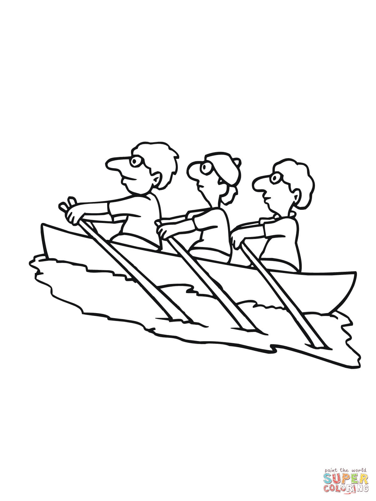 1200x1600 Traveling On Kayak Coloring Page Free Printable Coloring Pages