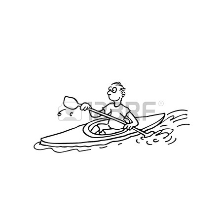 450x450 Rowing Athletes. Outlined Cartoon Handrawn Sketch Illustration
