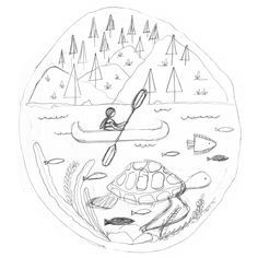 236x236 Kayak Paddle Graphic